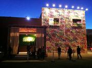 The exterior of the warehouse on 16th Street near Wisconsin Street was completely painted with graffiti for the event.