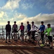 Employees of Square take to the road for Bike to Work Day.