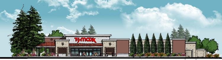A rendering of the T.J. Maxx setting up shop in Castro Valley.
