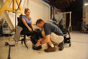 Tamara Mena gets fitted for prosthetics at Ekso Bionics.
