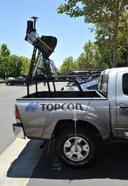 Topcon's 3-D mapping units, which mount atop vehicles, cost between $200,000 and nearly $400,000.