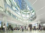 A rendering of the new Transbay terminal