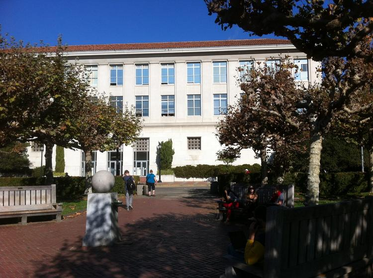 Le Conte Hall on the UC Berkeley campus, where masterminds like Owen Chamberlain, Robert Oppenheimer and Emilio Segrè pushed the boundaries of physics (and turned in paper timesheets like those still used today).