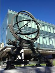 A bronze equatorial armillary, a replica of one given by Jesuit missionaries visiting the Chinese court in the 17th century, sits in the plaza outside the University of San Francisco's new Lo Schiavo Center for Science and Innovation. The original is mounted atop an ancient observatory in Beijing.