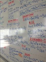 "A wipe board in an ""interaction area"" of the University of San Francisco's new Lo Schiavo Center for Science and Innovation."