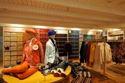 The store has a mezzanine level to highlight Uniqlo's fleece collection, which helped launch the company globally.