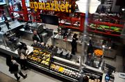 The store's Upmarket has a selection of foods from six local vendors, as well as a smoothie station and bakery.