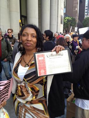 sheronda Orridge wells fargo shareholder annual meeting occupy protest