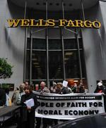 Protesters swarm Wells Fargo annual meeting