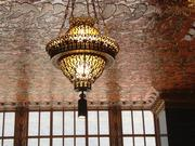 The lobby chandelier at 140 New Montgomery