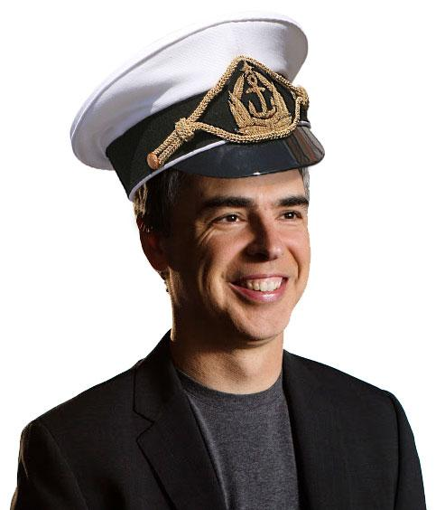 (Admiral) Larry Page, CEO of Google.Photo simulation by Mitch Green.