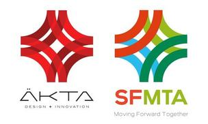 AKTA of Chicago said their logo (left) looks a lot like SFMTA's new logo (right).