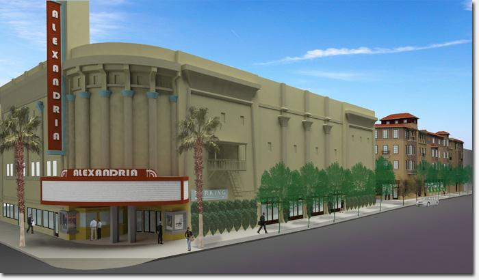 A rendering of the Alexandria Theater.