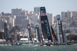 America's Cup racing on San Francisco Bay.