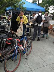 Bike to Work Day station in Mountain View.