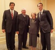 Diane Winokur with Fred Fisher (left), CIRM board vice chairman Art Torres and Lt. Gov. Gavin Newsom.