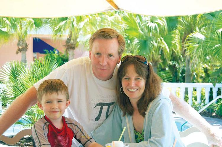 Ben Harris, pictured with his son Rawden and wife Rebecca, saw his ALS progress again after initial good results from a clinical trial of Neuraltus Pharmaceuticals' drug. Still, he believes the drug must be approved.