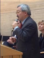 San Francisco Mayor Ed Lee: No longer satisfied with San Francisco as a regional biotech powerhouse.