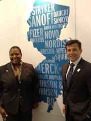 Tracye McDaniel, president and CEO of Choose: New Jersey, and Amicus Therapeutics CEO John Crowley said Tuesday at the BIO convention in Boston that their state's business climate has changed and the drug-development industry has the support of Gov. Chris Christie.
