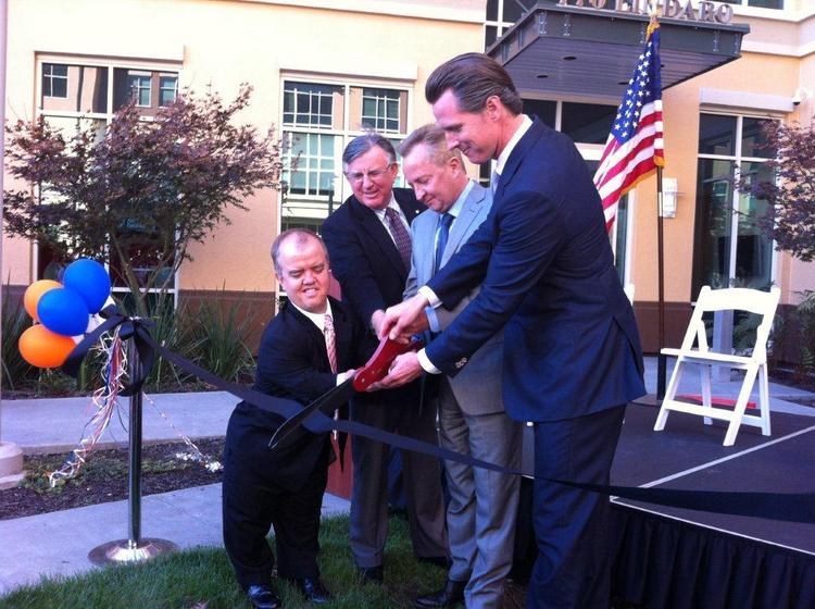 VIPs cutting the ribbon at BioMarin's new facility in San Rafael on Thursday.