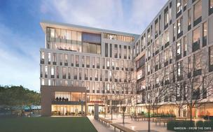 UCSF's newest Mission Bay building, aided by a $20 million gift from Duty Free Shoppers co-founder Charles Feeney, will house the global health program as well as other programs and Chancellor Susan Desmond-Hellmann.