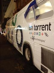 Ion Torrent, which Life Technologies bought in 2010, was rolling out a new sequencing system, a bus and an invitation-only party at Ruby Skye.