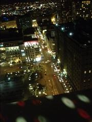 Before the JPM storm: Union Square and the Westin St. Francis hotel (right), home of the J.P. Morgan Healthcare Conference, Sunday night from the Starlight Room at the Sir Francis Drake Hotel.
