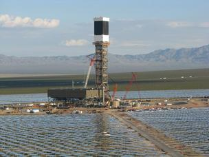 BrightSource's Ivanpah solar power plant is currently under construction.
