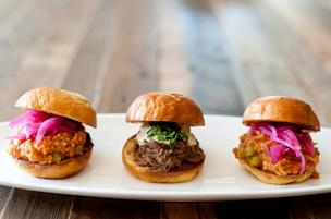 Juhu Beach Club in Oakland offer Indian-spiced sliders.