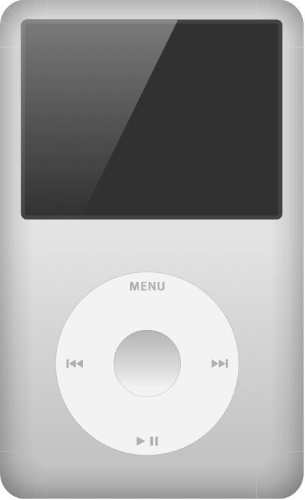 This is what my original iPod brick looked like. It's been through a lot.