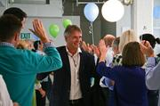 Ecover CEO Philip Malmberg is greeted by Method employees.