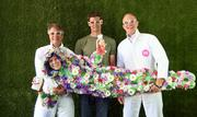 Method co-founder Eric Ryan dressed in a flower suit Method used in its Clean Happy campaign to ham it up with Ecover CEO Philip Malmberg (left), co-founder Adam Lowry (middle) and Method CEO Drew Fraser (right).