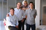 Method co-founders and CEO with Ecover CEO Philip Malmberg (left). Ecover acquired Method Aug. 31.