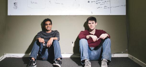 Mixpanel founders Suhail Doshi (left) and Tim Trefren.