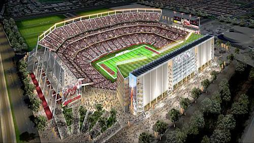 An artist rendering of the new home the Niners want in Santa Clara.