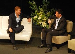 Peter Thiel (left) and Ryan Howard.