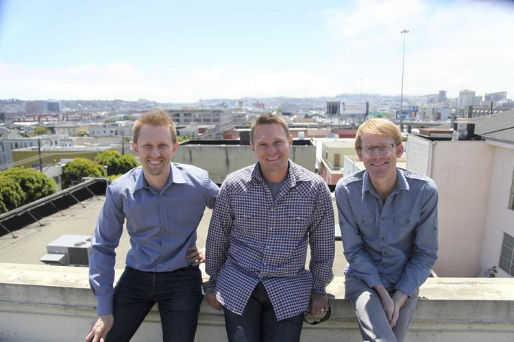 Planet Labs co-founders Chris Boshuizen, Robbie Schingler and Will Marshal (left to right).