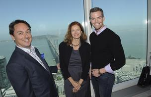 "Curtis Nixon and Maggie Kent of ""Selling New York""; and Ryan Serhant of ""Million Dollar Listing"""