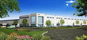 This rendering shows the future 575,000-square-foot Cherry Logistics Center at 38811 Cherry St. in Newark.