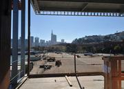 The view of the city from the second floor of the facility creates an ideal environment for special events.
