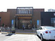The main entrance in to the Emeryville Public Market, which features an international food court.