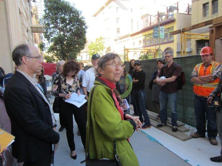 TNDC Director Don Falk and architect Lisa Gelfand.