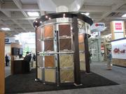 The exhibition floor of PCBC is full of product displays such as this one for flooring materials.