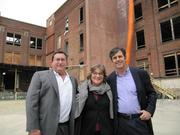 The project team held a groundbreaking ceremony at 1614 Campbell. From right to left: Todd DiMartino of DCI Construction (contractor), Toby Levy of Levy Design Partners (architect), and John Protopappas of Madison Park Financial (developer).