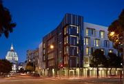 Best residential / affordable: Drs. Julian & Raye Richardson Apartments David Baker + Partners' design for 120 units of supportive housing fit in well.