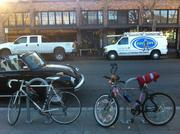 Some shoppers do travel by bike. Which one do you think came from Berkeley?