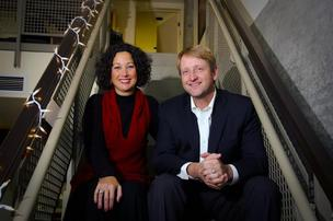 Lynn Simon (left) founded Simon & Associates in 1994. She will work with Gunnar Hubbard (right), a principal with Thornton Tomasetti who leads the firm's building sustainability group.