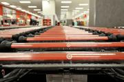 City Target's shopping carts are smaller than the usual ones because customers who come into the store are expected to shop for fewer, smaller items and spend less.