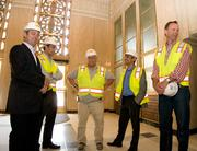 Members of Novo Construction's team, including Russell Woods (left) and Arne Ericson (right).