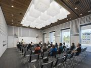 The new EBI building includes space for classes and seminars.